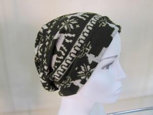 Christmas print beanie hat