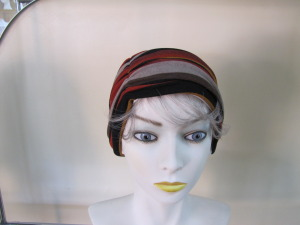 ruched hat front view